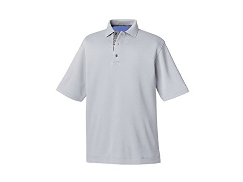 FootJoy Smooth Pique Knit Collar Golf Polo 2016 Frost Grey Large
