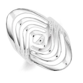Genuine IceCarats Designer Jewelry Gift Sterling Silver Fancy Ring Size 6.00