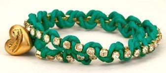Juicy Couture Green Festival Chic Rhinestone Wrap Bracelet