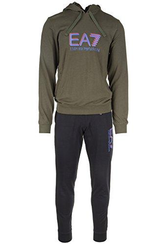 Emporio Armani EA7 tuta uomo fashion completo felpa pantaloni nero EU M (UK 38) 6XPV54 PJ05Z 28BA