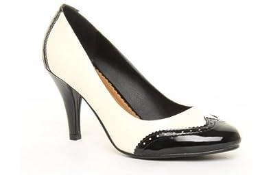 caravell coco monochrome black white size 9
