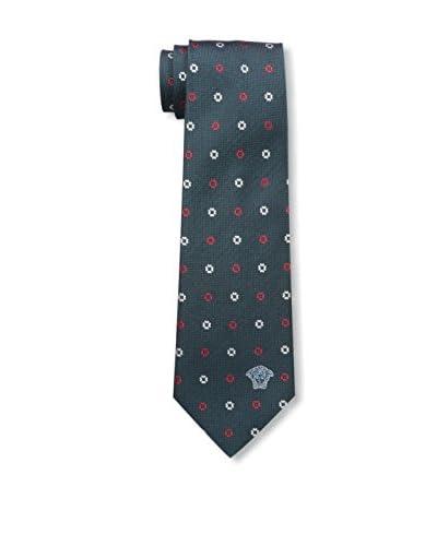 Versace Men's Silk Tie, Black/Green
