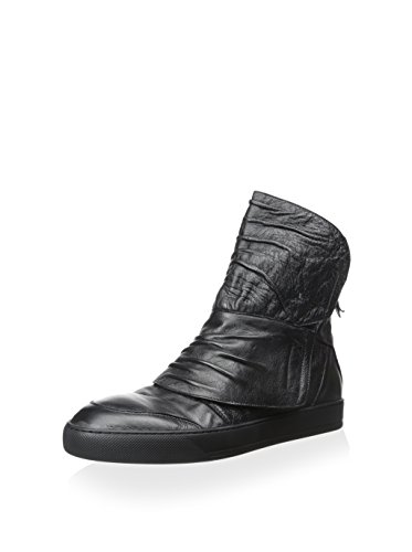 Alexandre Plokhov Men's Creased Hi-Top Sneaker