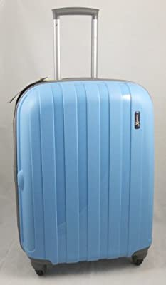 "Luggage X - Set of 3 Lightweight Hard Shell Light Blue Trolley Suitcases 30"" + 26"" + 22"" - NEXT DAY DELIVERY*"