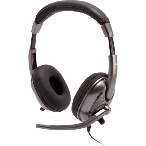 Cyber Acoustics Ac-8000 Stereo Headset For Kids (Silver)