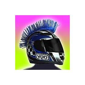 Motorcycle Helmet Mohawk Blue