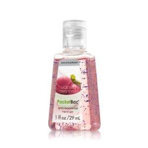 バス&ボディワークス バニラベリーソルベ 抗菌ハンドジェル 29ml Vanilla Berry Sorbet AntiーBacterial PocketBac Sanitizing Hand Gel