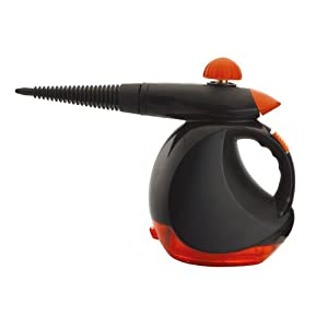 RD-WORKS Multi-Purpose Pressurized Handheld Steam Cleaner VSC38/VSC38A with Easy-to-attach Accessories Including Extended Connecting Spray Nozzle, Towel Sleeve and Spray Cups, Perfect for Clothes/Windows/Doors/Floor Boards Cleaning (480ML)