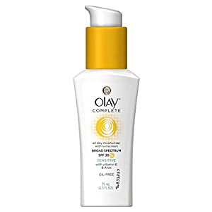 Olay Complete Daily Defense All Day Moisturizer With Sunscreen SPF30 Sensitive Skin, 2.5 fl. Oz., 2 Count