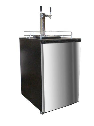Nostalgia Electrics KRS-6100SS Kegorator Double Tap Beer Keg Fridge, Stainless Steel