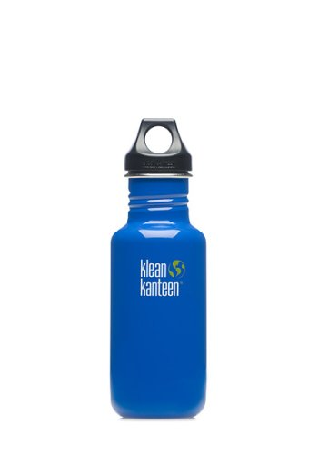 Klean Kanteen Stainless Steel Water Bottle With Poly Loop Cap (18-Ounce, Ocean Blue) front-938185