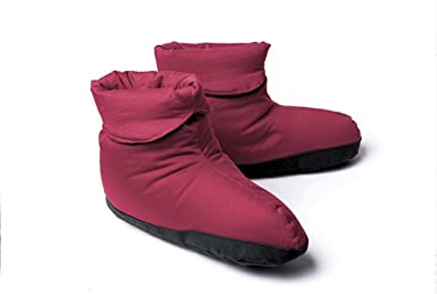 Warm Things Down Booties Burgundy Small