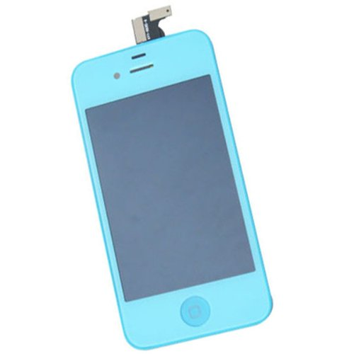 Best New Front Housing Lcd Display Touch Glass Screen Digitizer Assembly Replacement Panel For Iphone 4 Gsm Cdma At&T Verizon Sprint Color Candy (Iphone 4 Cdma/Verizon/Sprint, Light Blue)