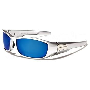 ArcticBlue Lunettes de Soleil - Sport - Cyclisme - Ski - Conduite - Motard - Plage / Mod. Kite Gris Bleu Miroir / Taille Unique Adulte / Protection 100% UV400