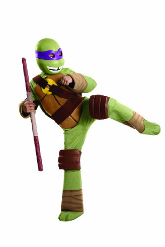 Teenage Mutant Ninja Turtles Deluxe Donatello Costume, Small front-512632