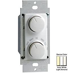 Leviton RTD01-10Z Fan/Light Control - White, Ivory, Light Almond-2PK