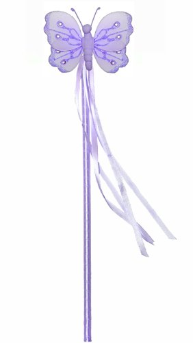 Purple Shimmer Nylon Butterfly Fairy Wand Dress Up Halloween Favor Costume