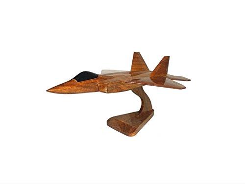 lockheed-martin-avions-f-22-raptor-united-states-air-force-aircraft-executive-bureau-en-bois-modele-