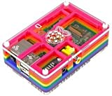 Supreme-Optimised PIMORONI - 001 - RASPBERRY PI, PIBOW RAINBOW CASE - (Pack of 1) - Min 3yr ClevaUK Warranty