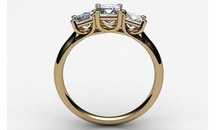 Moissanite 18ct Yellow Gold 0.60 Carat Square Cut Ring - Zoe Kay Jewellery