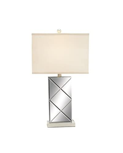 Metal Mirror Table Lamp, Silver