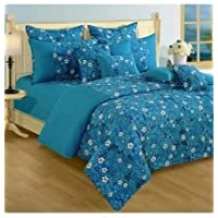 Swayam Shades N More Printed Cotton Single AC Comforter - Turquoise (ACS 11-1416)