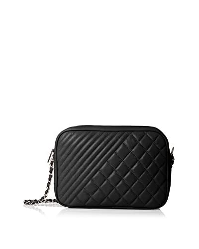 Zenith Women's Small Quilted Shoulder Bag, Black As You See