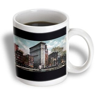 Mug_170686_1 Bln Vintage New York City Collection - Union Square New York City View Of The Fountain Postcard - Mugs - 11Oz Mug
