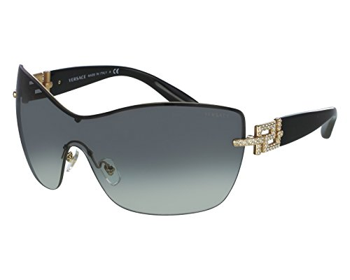 Versace Sunglasses Gold Frame : Sunglasses - Versace Womens 2156b Gold Frame/Grey ...