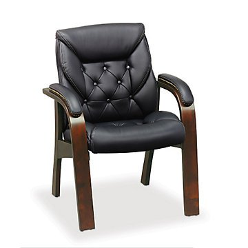 Traditional Guest Chair In Faux Leather
