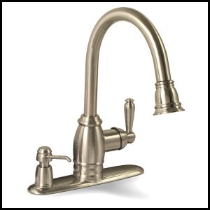 Premier 120111 Sonoma Pull-Down Kitchen Faucet with Matching Soap Dispenser, Brushed Nickel