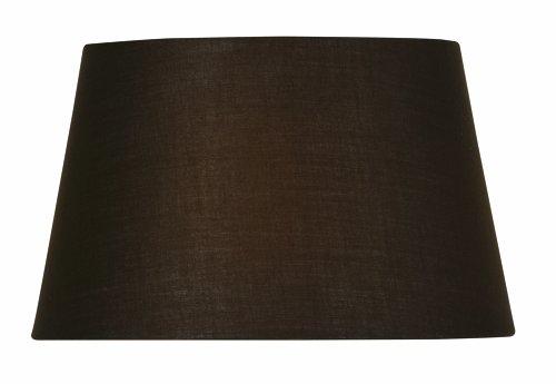 Oaks-Lighting-Abat-jour-tambour-Coton-Chocolat-25-cm
