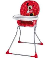 Mothercare Red Minnie Mouse Highchair Baby