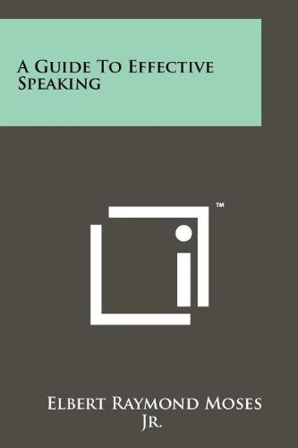 A Guide To Effective Speaking