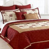 Victoria Classics Valor Queen 8 Piece Comforter Bed In A Bag Set Red/Gold/Cream