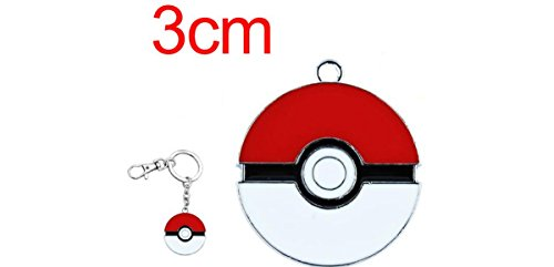Pokemon-Pokeball-metal-Soporte-de-llavero-con-Clip