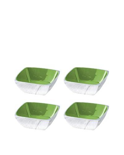 Shiraleah Set of 4 Green Pop Square Snack Bowls