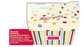 Emma Bridgewater Polka dot and stripes recipe box