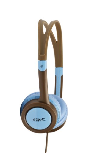 Urbanz Vibe Colourful Childrens Kids Dj Style Headphones With Volume Control (Blue)