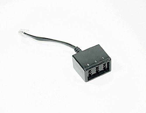 3 fach Telefonadapter für Fritzbox 7170 v1 TAE Adapterkabel 20cm 6P6C