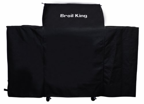 Barbecue Genius 7492 Heavy Duty PVC Polyester Grill Cover, Black