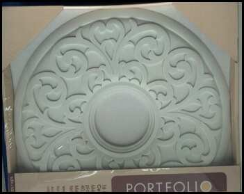 Portfolio 16 Inch Ceiling Medallion White