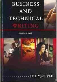 business and technical writing by jeffrey jablonski pdf