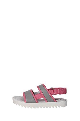 Bikkembergs BKJ103545 Sandalo Bambina Pelle Grigio/rosa Grigio/rosa 35
