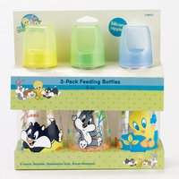 Baby Looney Tunes 3-Pack Feeding Bottles - 1