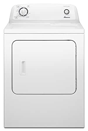 Amana 6.5 cu. ft. Traditional Electric Dryer with Automatic Dryness Control, NED4600YQ, White