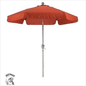 Amazon.com: Southern 8' Crank and Tilt Market Umbrella, Brown