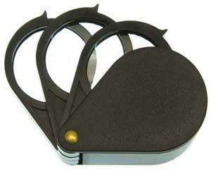 SE Folding Multi Loupe, 3-1in Dia. Lenses,Power 5X Each Lens