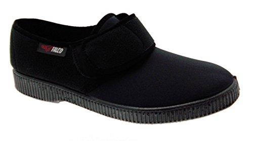 pantofola ciabatta uomo panno elasticizzato velcro fisioterapia extra large 39 nero