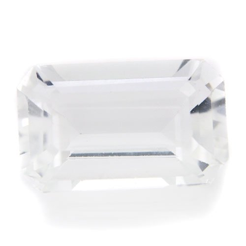 Natural Africa White Topaz Loose Gemstone Emerald Cut 13*8mm 5.60cts VVS Grade